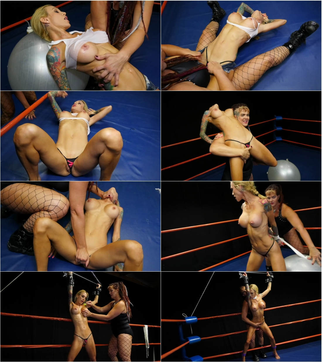 Doom Maidens – Amazon Annie, Saharra Huxly & Gia the Giant – 3 Female Wrestling Size Mismatches w…