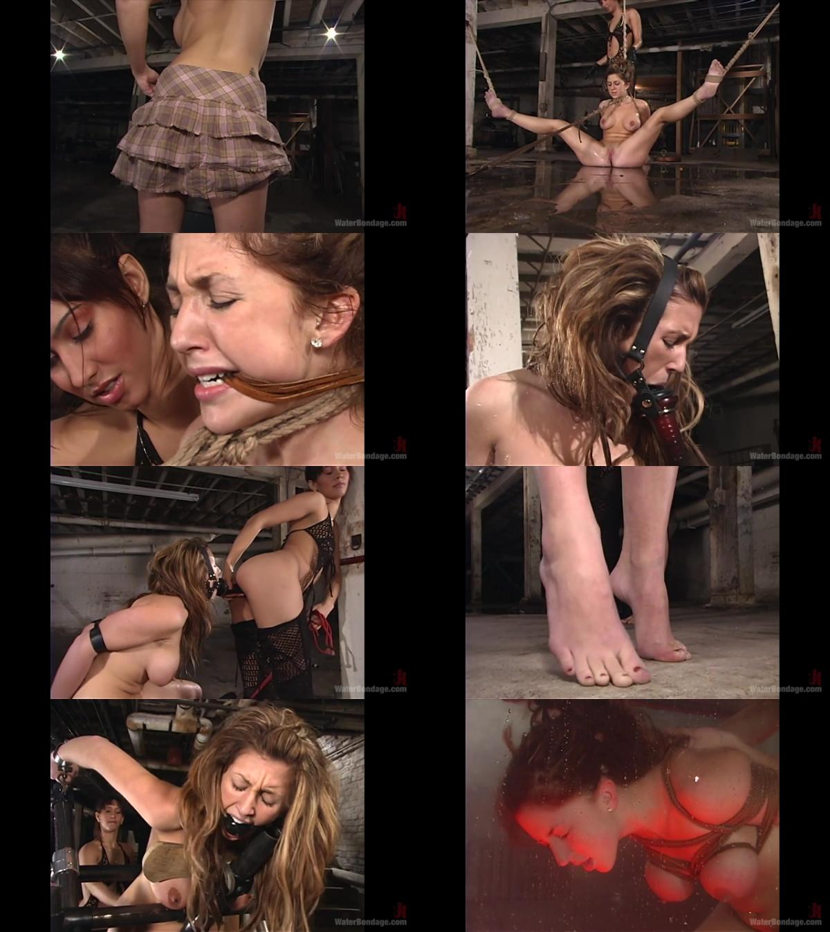 Double anal punishment for slave of two goddesses
