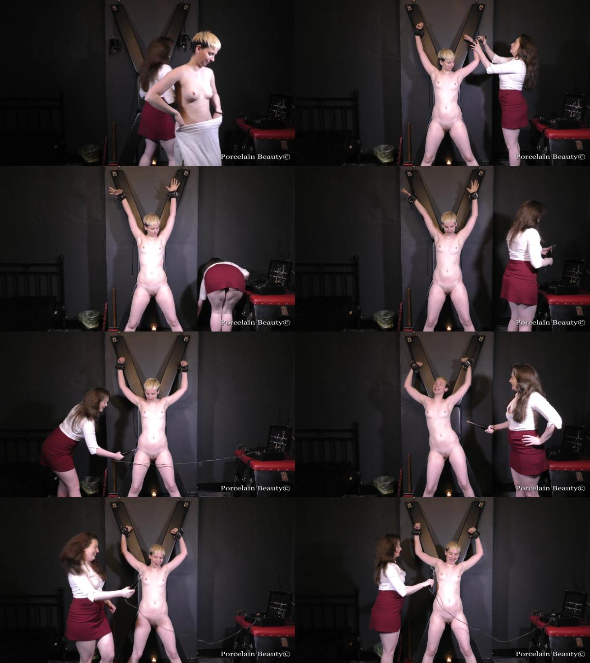 Electro Torture for Bound Slave Girl Porcelain Beauty 1080p