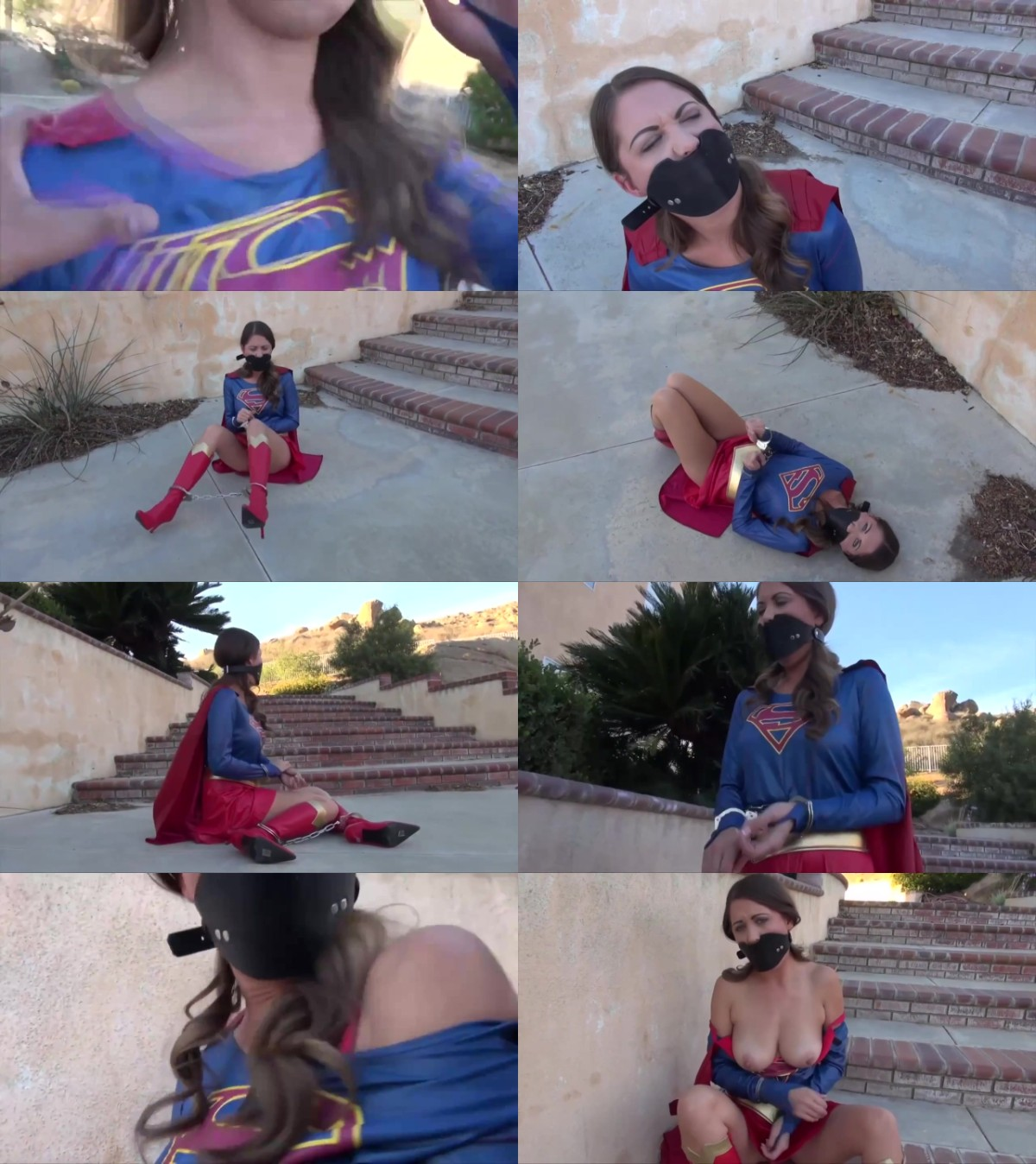 Supergirl vs Evil Superheroine Cosplay Tied up and Fucked